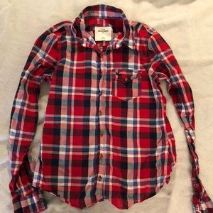 abercrombie kids linen plaid size XL
